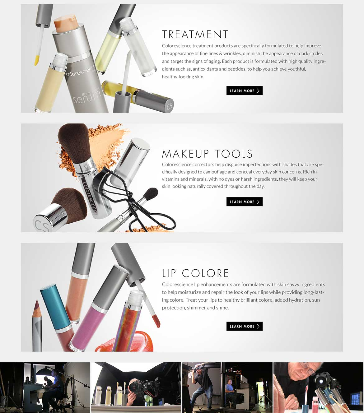 colorescience ecommerce website