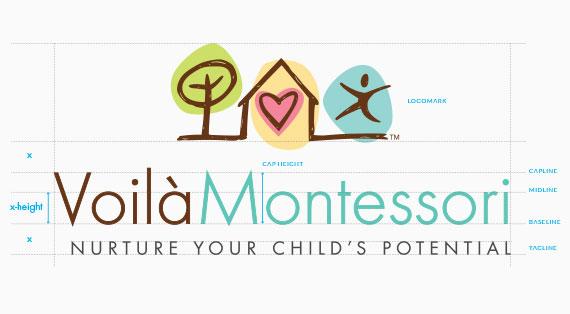 Voila Montessori Branding